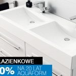 Promocja Aquaform na 20-lecie firmy: 20% rabatu na meble łazienkowe