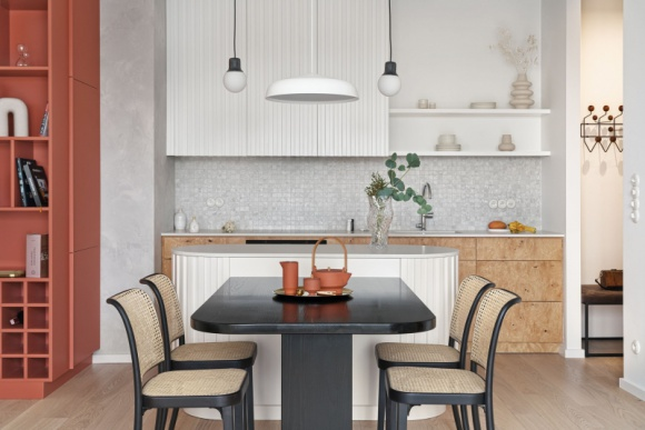 Mieszkanie w Gdańsku od Inbalance Dom, LIFESTYLE - Inwestycja Granaria jest zlokalizowana w samym sercu Gdańska, na Wyspie Spichrzów, tuż nad rzeką Motławą. Zaprojektowane przez Studio Inbalance mieszkanie znajduje się na ostatnim piętrze apartamentowca, z którego rozciąga się iście spektakularny widok na centrum miasta.